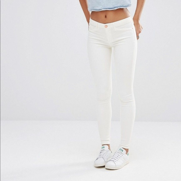 69458518 River Island Jeans | White Skinny Jean With Blue Stain | Poshmark